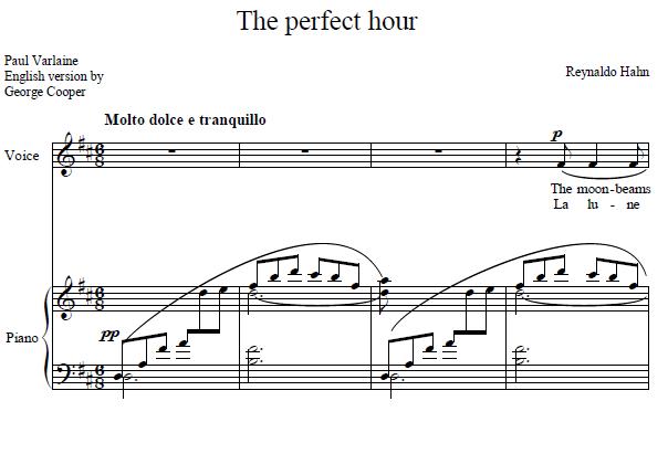 Reynaldo Hahn - The perfect hour