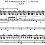 Ф. Шуберт — Лебединая песня № 5 / Schubert — Schwanengesang No 5 Aufenthalt