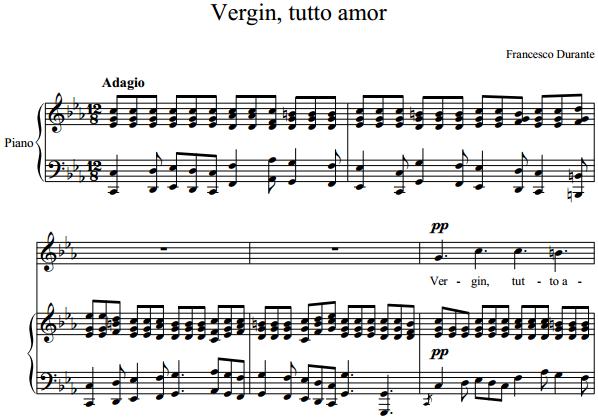 Francesco Durante - Vergin, tutto amor