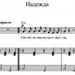 А. Пахмутова — Надежда