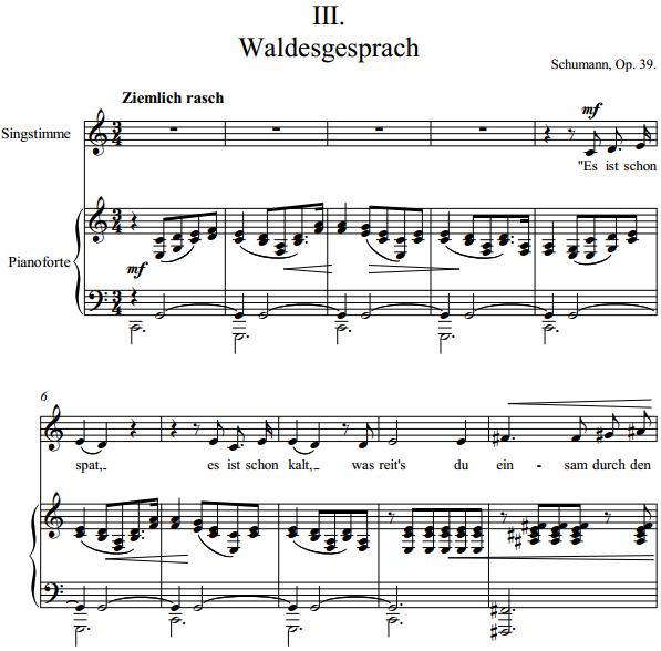 Schumann - III. Waldesgesprach
