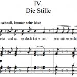 Р. Шуман — Liederkreis / Круг песен — IV. Die Stille