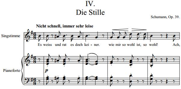 Schumann - IV. Die Stille