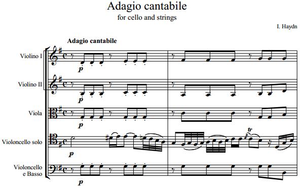 Й. Гайдн - Adagio cantabile