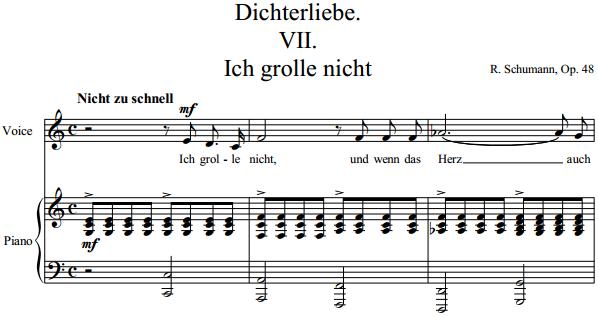 Schumann - Dichterliebe VII Ich grolle nicht