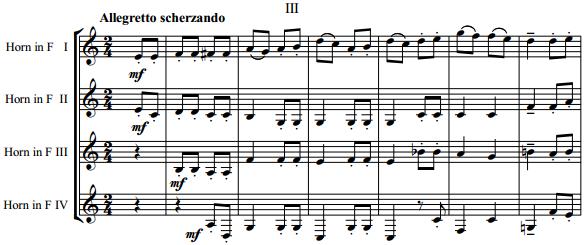 Римский-Корсаков - Сюита №-3 для 4-х валторн