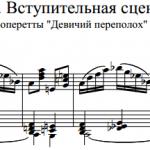 Ю.С. Милютин — Вступительная сцена из оперетты «Девичий переполох»