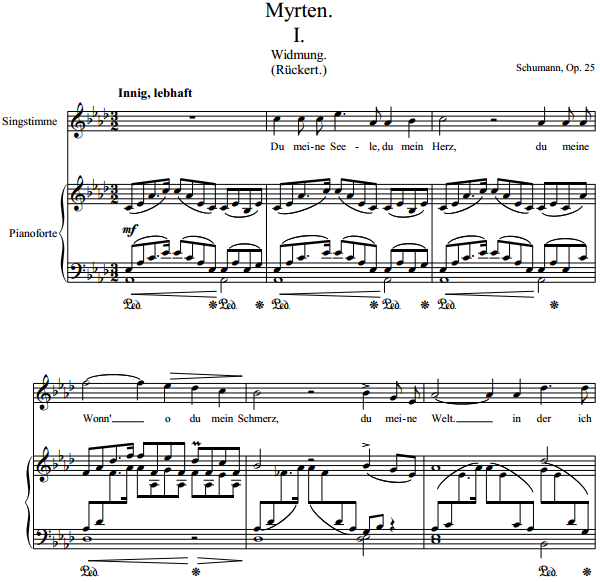 Schumann - Myrten
