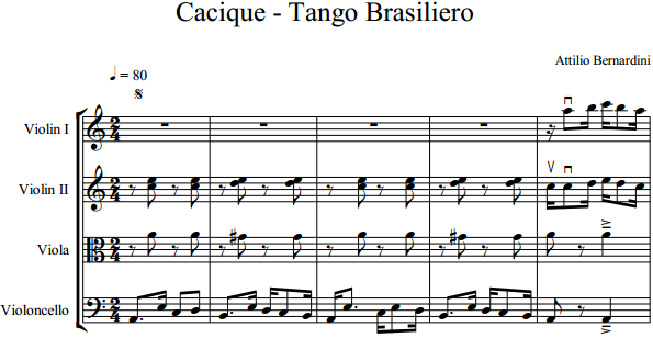Attilio Bernardini - Cacique - Tango Brasiliero