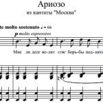 П.И. Чайковский — Ариозо из кантаты «Москва»