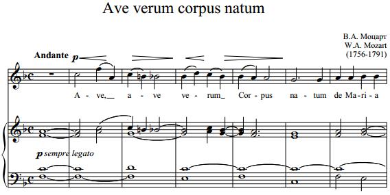 В.А. Моцарт - Ave verum corpus natum