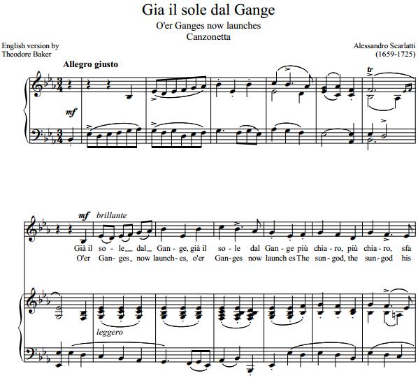 A. Scarlatti - Gia il sole dal Gange