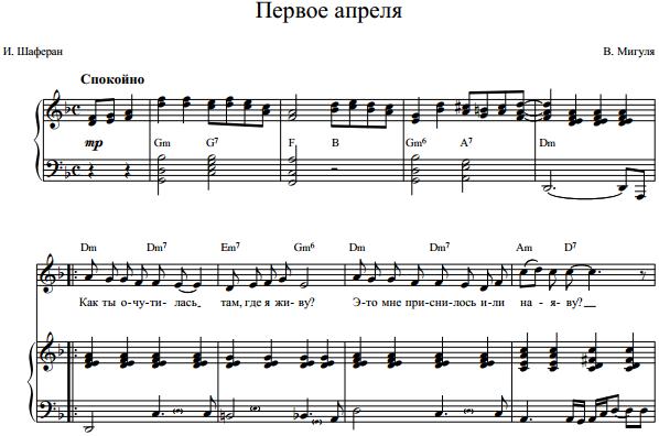 В. Мигуля - Первое апреля