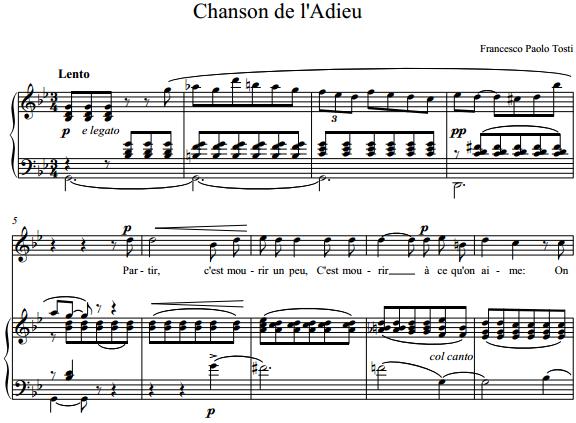 Francesco Paolo Tosti - Chanson de l'Adieu