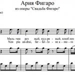В.А. Моцарт — Ария Фигаро из оперы «Свадьба Фигаро»