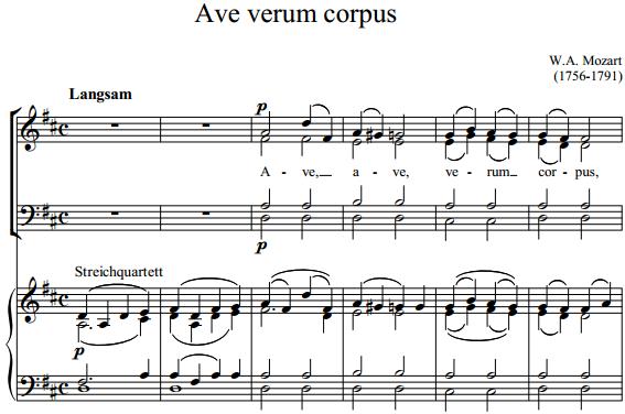 В.А. Моцарт - Ave verum corpus