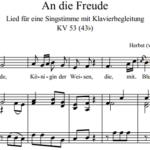 В.А. Моцарт — К радости / An die Freude