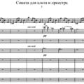 Д.Д. Шостакович - Соната для альта и оркестра 1 часть