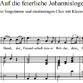 W.A. Mozart - Auf die feierliche Johannisloge