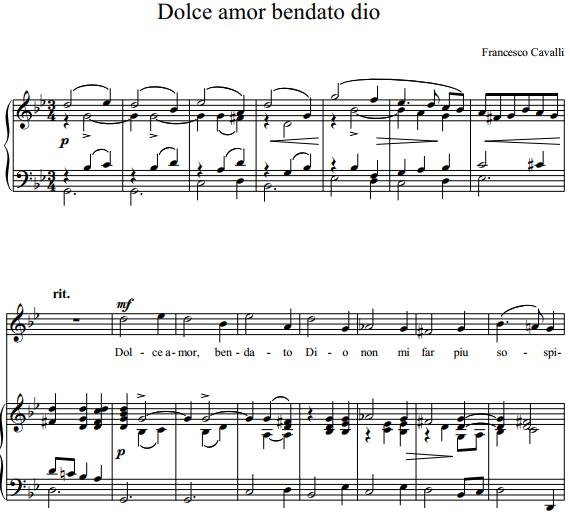 F. Cavalli - Dolce amor bendato dio