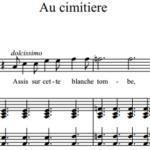 Сен-Санс Шарль-Камиль / Charles-Camille Saint-Saëns — Au cimitiere